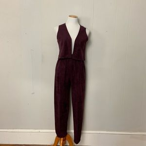Vintage handmade vest and pants set